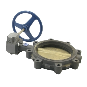 Lug 12 Gear Operator NIBCO LD-2000-5 Series Ductile Iron Butterfly Valve with EPDM Liner and Aluminum Bronze Disc