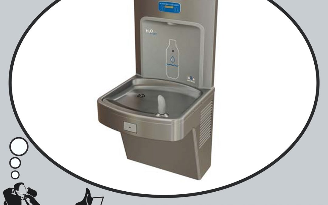 H2O To Go! Barrier-Free, Electric Water Cooler with Bottle Filler